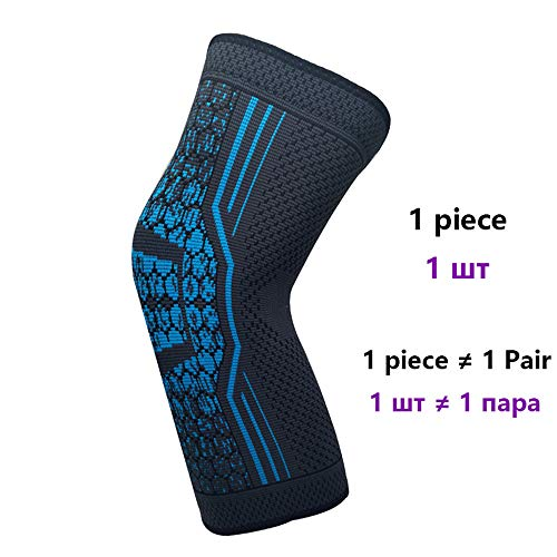 WXQQ SportKniebandage- Knieschoner für Sport und Alltag - Kniestütze für Damen und Herrensky Blue