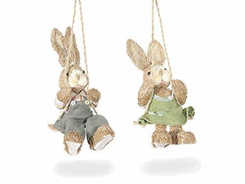 Ideapiu idea decorazioni pasquali, uova decorative due conigli di pasqua, addobbi pasquali, idee regalo per pasqua