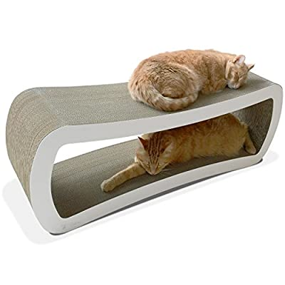 PetFusion Jumbo Cat Scratcher Lounge (99x28x36 CM). [Superior Cardboard & Construction, significantly outlasts cheaper alternatives]