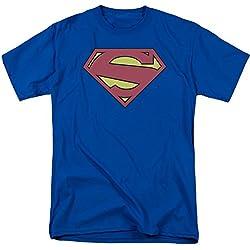 Trevco Superman DC Comics New 52Shield adulto camiseta Tee - Púrpura -