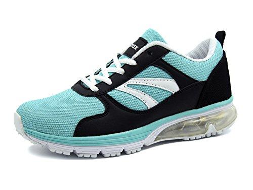 Knixmax Damen Sportschuhe Bequem Turnschuhe Atmungsaktiv Running Sneaker Outdoor Fitnessschuhe Leicht Laufschuhe EU 39-(UK 6) Light Blau