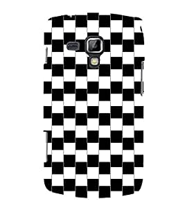FIOBS Perfect combination of black and white Designer Back Case Cover for Samsung Galaxy S Duos S7562