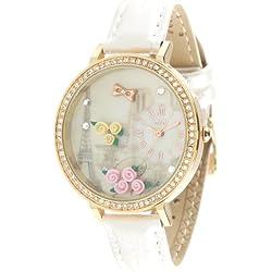 ufengke® waterproof creative watch for lady girls women-white strap 3d flower tower theme