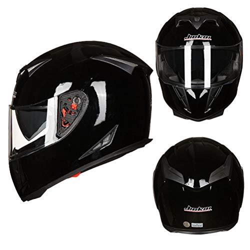Double Lens Motorrad Matte Black Helm Männer Vollgesichts Motorrad Roller Helme Abs Material Frauen Helme Professionelle Mountainbike Motocross Sicherheitskappen - Lazer Helm Motorrad