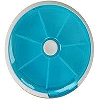Preisvergleich für URIJK Dreh Pillen Box Tablettendose Pill Box Tablettenbox Medizin Süßigkeiten Aufbewahrung Dossage 7 Fächer Medikamentenbox...