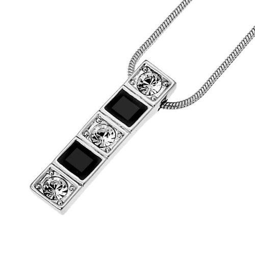 Oliver Weber 8683 Rhodium Plated Metal Swarovski Crystal Ladies' Pendant on  42.5 cm + 5.5 cm extender Chain