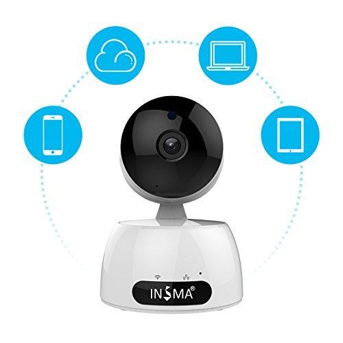 INSMA1080P HD IP Kamera Wireless Haus Netzwerk-Video-Kamera WIFI / WLAN/LAN Netzwerkkamera Nachtsicht Drahtlose Sicherheit Monitor Zwei-Wege-Audio Bewegungserkennung Alarm Überwachungskamera