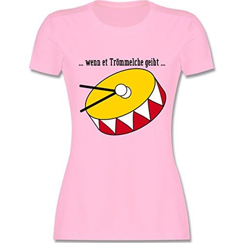 Karneval & Fasching - wenn et Trömmelche geiht - tailliertes Premium T-Shirt mit Rundhalsausschnitt für Damen Rosa
