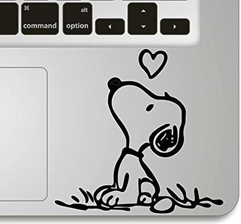 Vati Feuilles conception fraîche vinyle amovible Snoopy Amour Humour Handmade Art partielle Decal Sticker peau pour Trackpad Clavier d'Apple Macbook Pro Air Mac Laptop