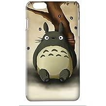 Funda carcasa Mi vecino Totoro para Iphone 4 4S 5 5S 6 6S 6plus 7 7plus plástico rígido