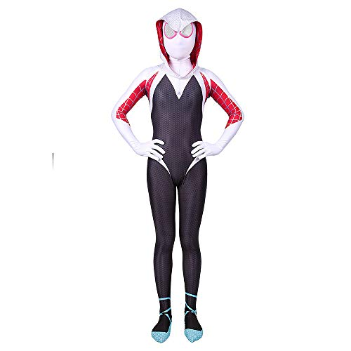 DFRTYE Erwachsene Kinder Paralleles Kosmisches Kostüm Halloween Kostüm Overall 3D Print Spandex Spiderman Cosplay Body,Adult(Female)-XL (Female Body Halloween-kostüme)