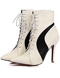 e18086ed1613e RTRY Zapatos De Mujer Materiales Personalizados Polipiel Moda Otoño Invierno  Novedad Botas Botas Stiletto Talón Señaló Toe Botines…