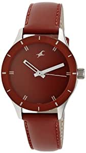 Fastrack Monochrome Analog Red Dial Women's Watch -NK6078SL06