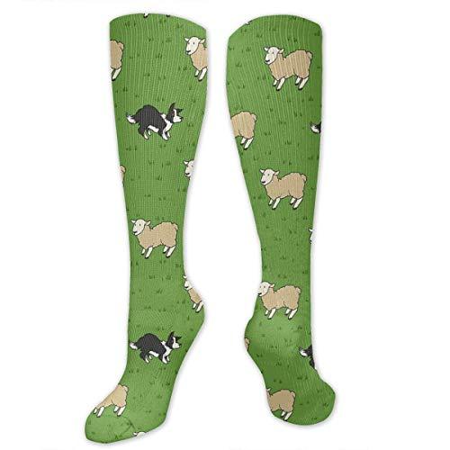Gped Kniestrümpfe,Socken, Come Bye Dog White Sheep Socks Athletic Socks Knee High Socks For Men Women Sport Long Sock Stockings - Sheep Dog Kostüm Muster