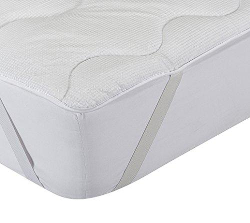 Classic Blanc - Surmatelas en fibre hypoallergénique et thermorégulateur, confort médium-ferme, épaisseur 3cm. 140x190cm-Lit 140