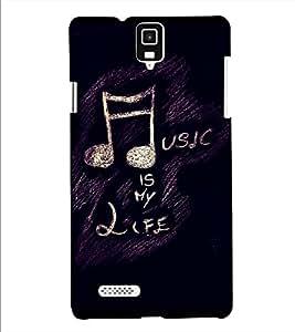 Fuson Designer Back Case Cover for Infocus M330 (Music is my life theme)