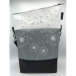 Handtasche 4 Pusteblumen Tasche Foldover Schultertasche