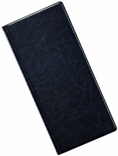 DURABLE VISIFIX Album pour carte de visite, couleur: noir fabrique en PVC aspect grain cuir, compose de 12 pochettes transparentes soudees pour 192 cartes de visite, dimensions:57 x 90 mm, couverture stable en plastique dimensions: (L)115 x (P)13 x (...