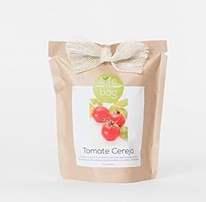 Kit Bio Légumes, aromates, fleurs comestible par Life in a Bag - A cultiver soi-même - Idée cadeau (Tomate cerise)
