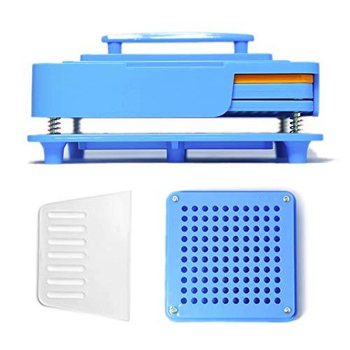 Adeeing Manual Capsule Filling Machine Pharmaceutical Capsules Maker DIY Medicine Herbal Powder Filler (Blue, 100holes,0#)