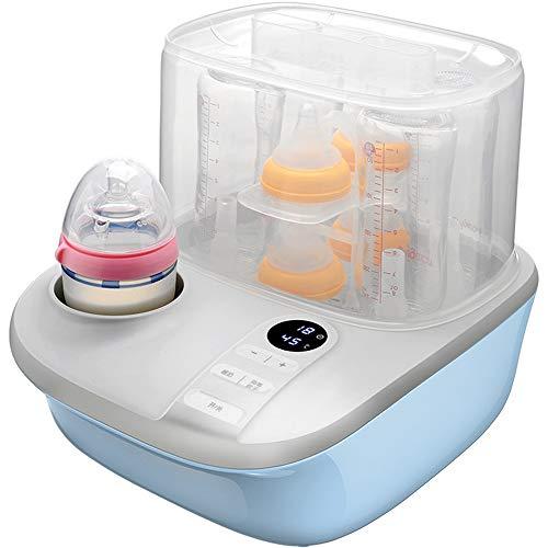 FLWVDFG Babyflaschen-Sterilisator Mit DREI-In-Einem-Multifunktions-Baby-Dampftopf Zum Trocknen Warmer Milch,Blau