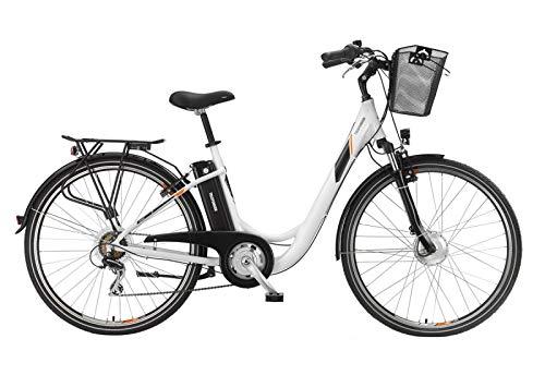 Telefunken E-Bike Elektrofahrrad Alu 28 Zoll mit 7-Gang Shimano Kettenschaltung, Pedelec Citybike leicht mit Fahrradkorb, 250W und 10Ah, 36V Sitzrohrakku, RC736 Multitalent