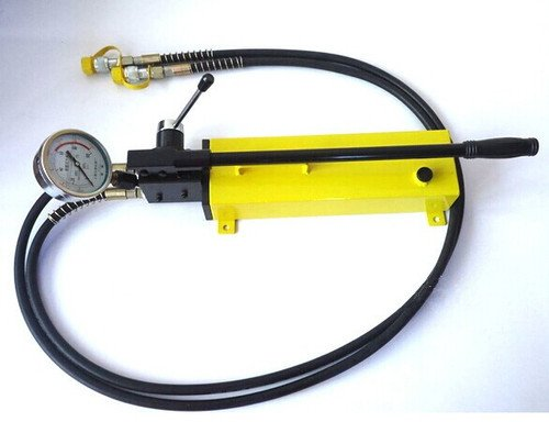 Gowe Pompe à main double action Pompe hydraulique haute pression pour outil hydraulique pression de sortie max : 700bar/10000psi