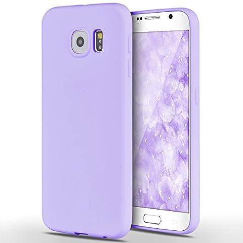 Samsung Galaxy S6 Hülle, Yokata Einfarbig Jelly Weich Silikon Gel