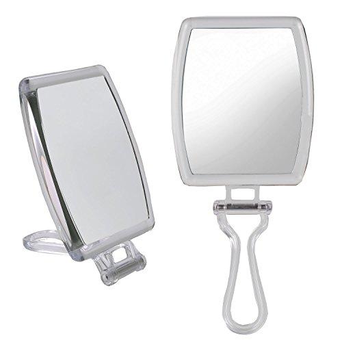 bestaid Vergrößerungsspiegel mit Licht beleuchtet Make-up-Spiegel LED-Licht bis Tischplatte Kosmetikspiegel doppelseitig 1x/10x schnurlose batteriebetrieben 360Rotation