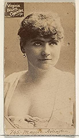 ' – Card 745 Maggie Arlington from the Actors and Actresses series (N45 Type 2) for Virginia Brights Cigarettes Fine Art Print (45.72 x 60.96 cm)