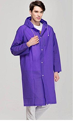keleidun Unisexe Eva environnement extérieur imperméable pour chien massif couleur pluie imperméable Poncho de pluie Longueur au genou Manteau Violet - Violet