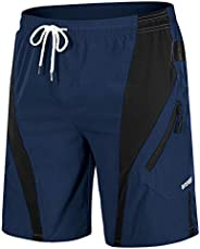MAGCOMSEN Men's Hiking Shorts 2 Zip Pockets Ripstop, Quick Dry, Lightweight, Summer Shorts for Work, Fishi