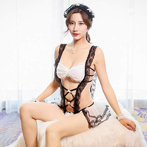 Sexy Dessous niedlich verspielt Magd sexy perspektive Masche Uniform Versuchung Rollenspiel Ästhetik