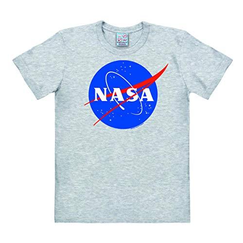 Logoshirt - NASA Logo - Camiseta Hombre - Gris vigoré - Diseño...