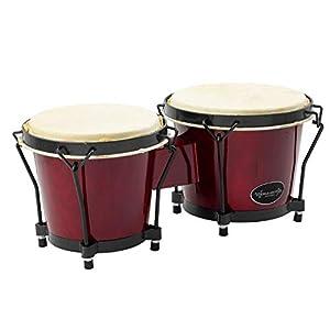 "World Rhythm 6"" and 7"" Bongo Drums - Wine Red"