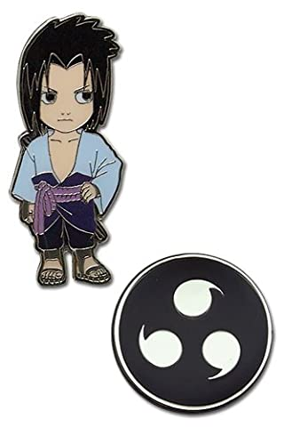 Naruto Shippuden Chibi Sasuke and Sharingan (Set of 2) Pins