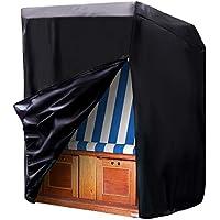 Moonkit Funda protectora para sillón de playa Funda de Muebles de jardin Impermeable 420D Oxford Funda para Sillas, 140/175 x 135 x 105 cm