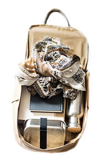 PAPERO ® aus Kraft-Papier | 2 in 1 Handtaschen Rucksack | robust, wasserfest ultraminimalistisch -Lynx- ✅ Vegan nachhaltig ♻ Damen Kleiner Backpack Platz für Laptop| FSC® Zertifiziert |, Urban Style - 5