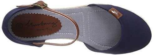 Mustang  1066-905-9, Sandales pour femme Bleu (800 Dunkel Blau)