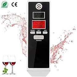 bedee Alcoholímetro Digital Profesional Probador Portátil de Alcohol Analizador de Respiración con Pantalla LCD de Alta Precisión Fácil Medición Fácil de Llevar alcoholimetro de Bolsillo