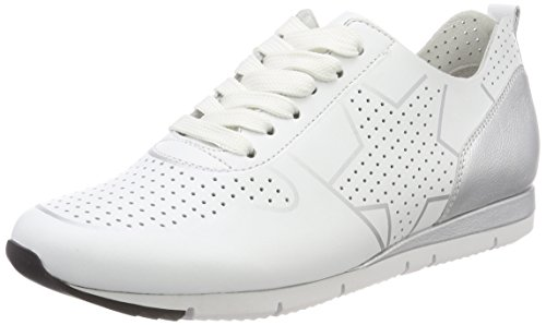 Kennel und Schmenger Damen Tiger Low-top Sneaker, Weiß (bianco/silver Sohle Weiß), 39 EU (6 UK)