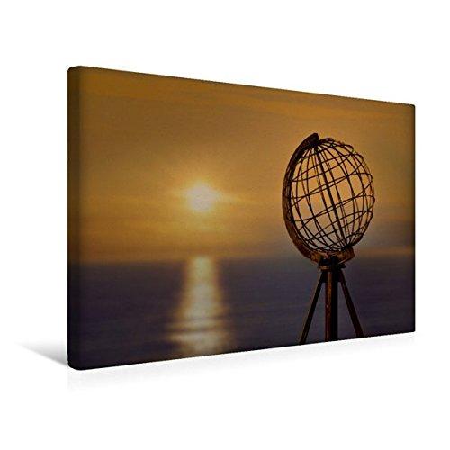 Calvendo Premium Textil-Leinwand 45 cm x 30 cm Quer, Am Nordkap   Wandbild, Bild auf Keilrahmen, Fertigbild auf Echter Leinwand, Leinwanddruck Orte Orte