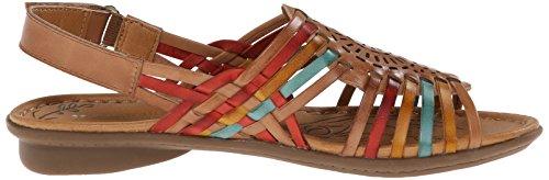 Naturalizer Wendy Large Cuir Sandale Tan Multi