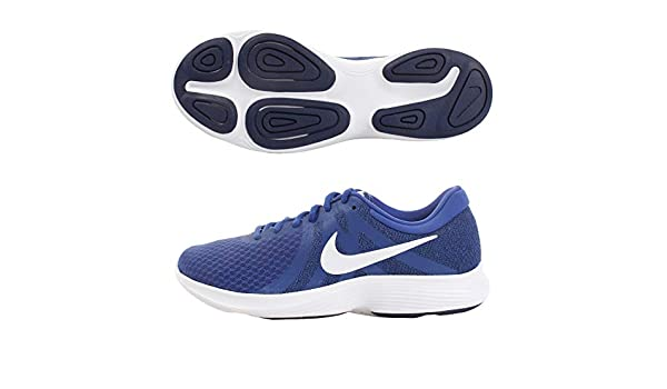 9ff1ba8b1c455 Nike Men s Revolution 4 Indigo Force White-Blue Void Running Shoes  Buy  Online at Low Prices in India - Amazon.in