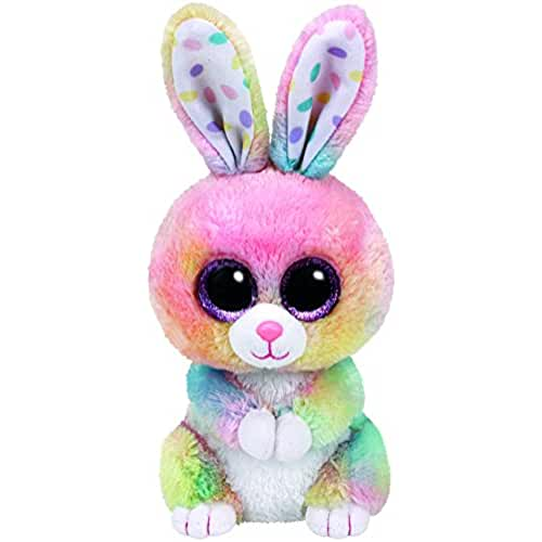 peluches TY 37212Glubschi s Beanie–BOO s Bubby Conejo con ojos, 15cm, multicolor