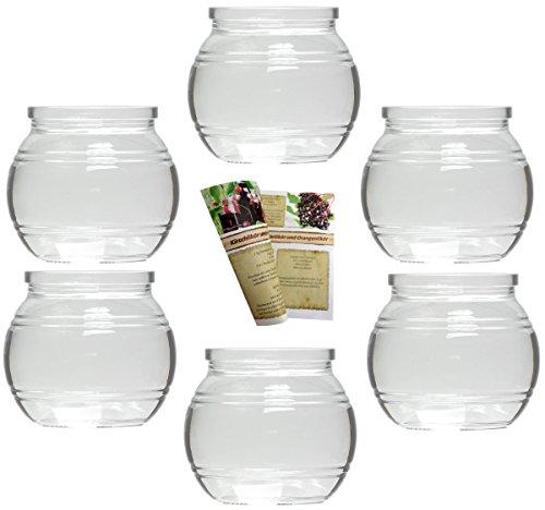 gouveo Teelichtgläser und 28-seitige Flaschendiscount-Rezeptbroschüre Windlichter, Windlichthalter, Vase (12er Set, Glas Kugel)