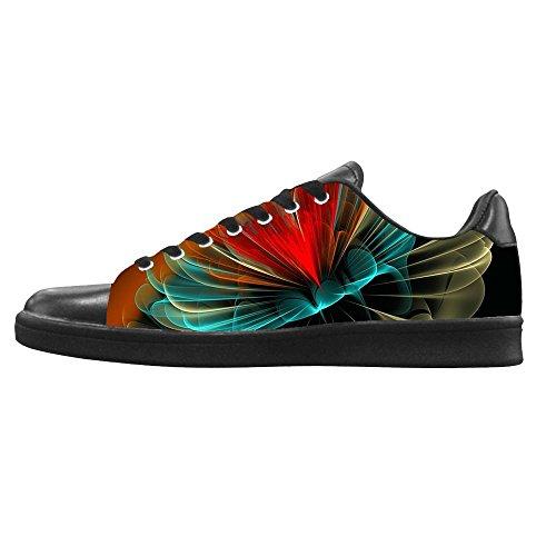 Custom 3D Format Men's Canvas Shoes Schuhe Lace-up High-top Sneakers Segeltuchschuhe ()