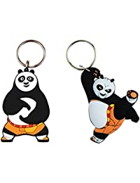 Techpro Doublesided Rubber Keychain With Kung Fu Panda Combo Pack
