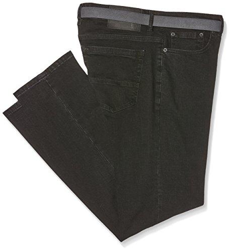 Burton Menswear London Washed Belted, Jeans Slim Uomo, Black (Black), W40
