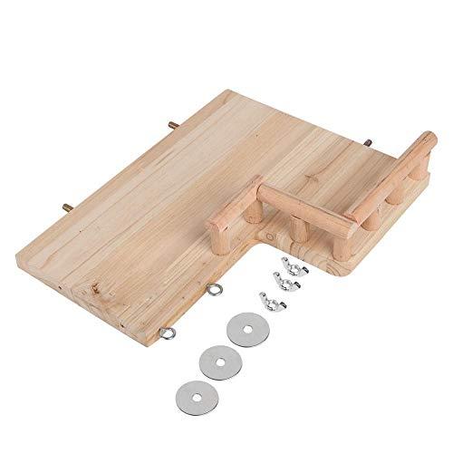 HEEPDD Hamster Plattform mit Geländern, L Form hölzernes reibendes Sprungbrett, das sicher ist, Spielzeug Kleintier Brücke für Syrische Hamster Eichhörnchen Rennmäuse Hamster goldene -
